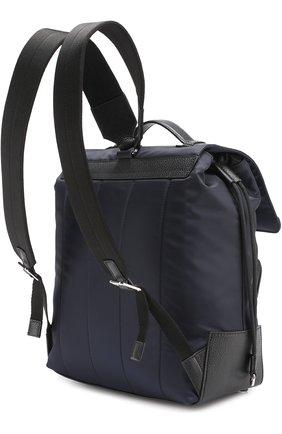 Текстильный рюкзак с внешним карманом на молнии   Фото №5