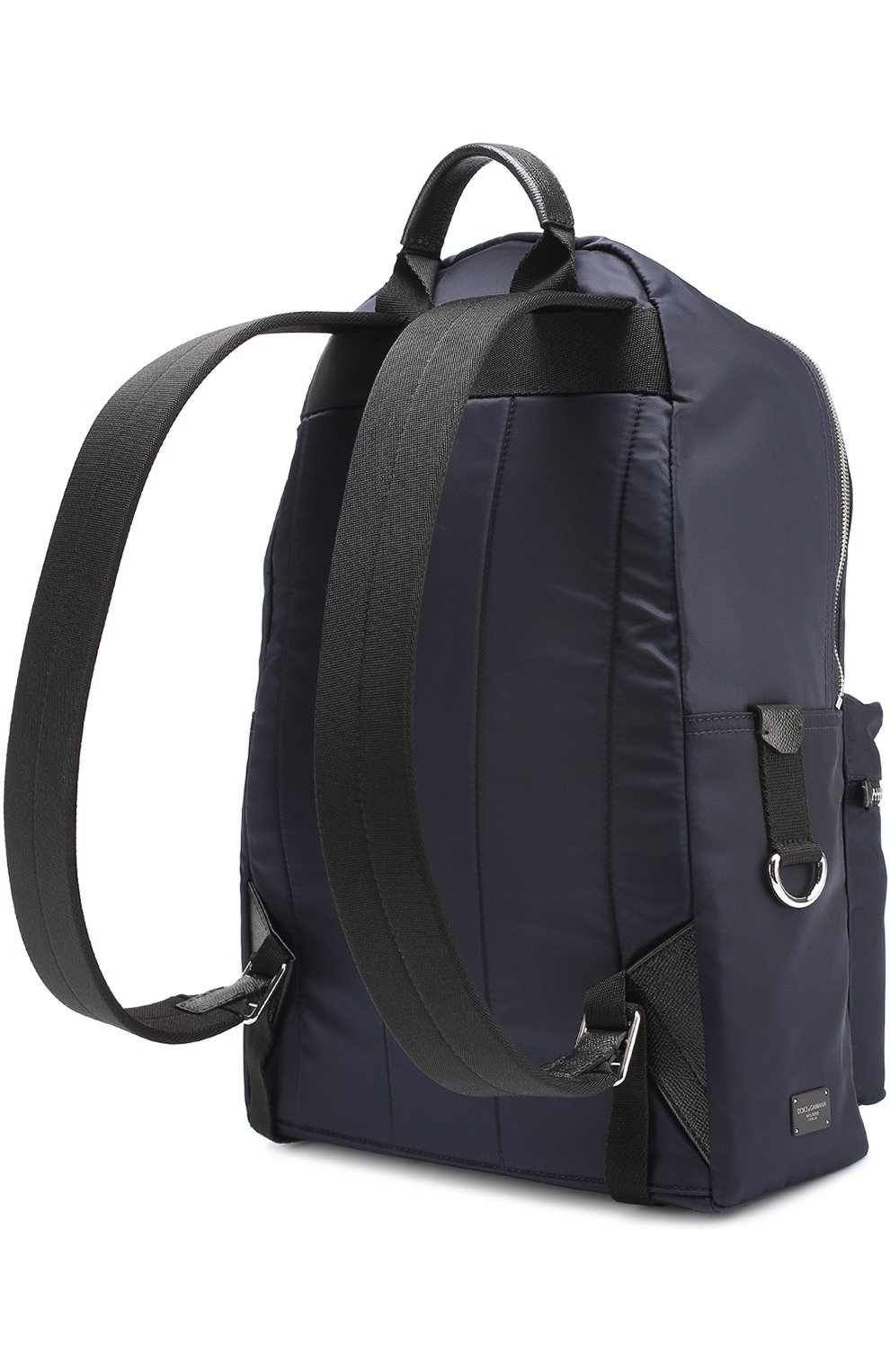 Текстильный рюкзак Vulcano с вышивкой Dolce & Gabbana темно-синий | Фото №3