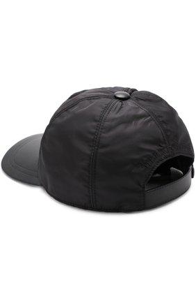 Мужской бейсболка с кожаным козырьком BILLIONAIRE черного цвета, арт. W17A MAC_0102 BLE021N | Фото 2