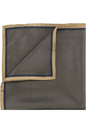 Шелковый платок с контрастным кантом | Фото №1