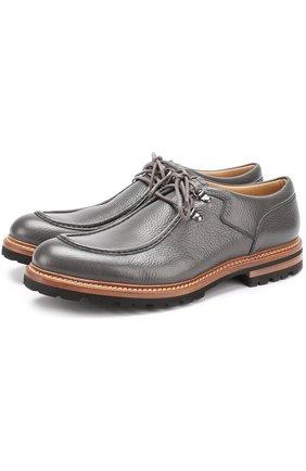 Кожаные ботинки на шнуровке