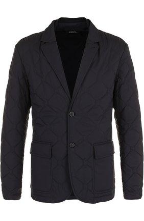 Стеганая куртка на молнии с отложным воротником