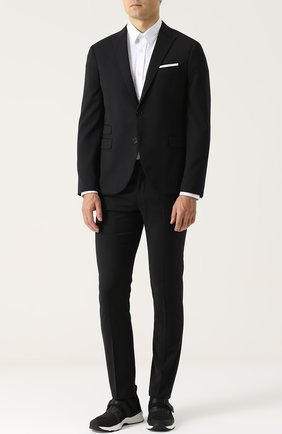 Текстильные кроссовки без шнуровки с ремешками Dior темно-синие | Фото №1