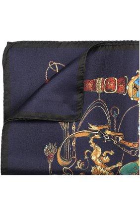Шелковый платок с принтом Dolce & Gabbana темно-синий | Фото №1