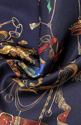 Шелковый платок с принтом Dolce & Gabbana темно-синий | Фото №3