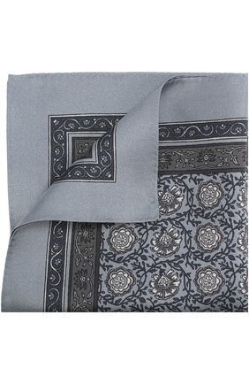 Шелковый платок с принтом Dolce & Gabbana серый | Фото №1