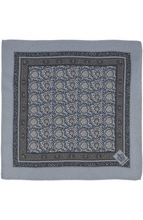 Шелковый платок с принтом Dolce & Gabbana серый | Фото №2
