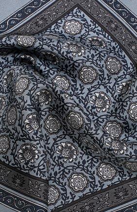 Шелковый платок с принтом Dolce & Gabbana серый | Фото №3
