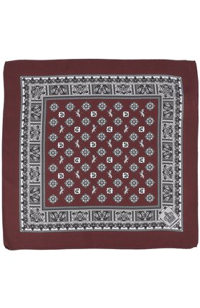 Шелковый платок с принтом Dolce & Gabbana бордовый | Фото №2