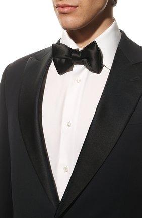Мужской шелковый галстук-бабочка TOM FORD черного цвета, арт. TFG95/4CH | Фото 2