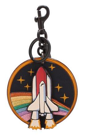 Кожаный брелок с принтом Rainbow | Фото №1