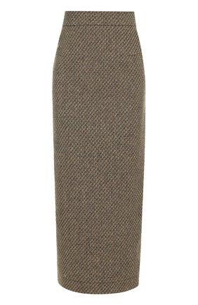 Шерстяная юбка-карандаш Walk of Shame разноцветная   Фото №1