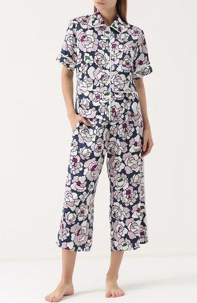 Шелковая пижама с принтом | Фото №1