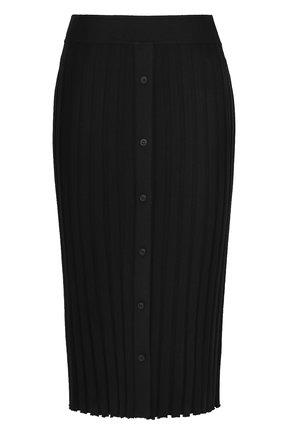 Юбка-карандаш фактурной вязки Altuzarra черная   Фото №1