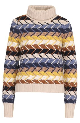 Вязаный свитер из смеси шерсти и кашемира