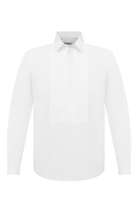 Мужская хлопковая сорочка под смокинг VALENTINO белого цвета, арт. NV3ACR8C/3GU | Фото 1