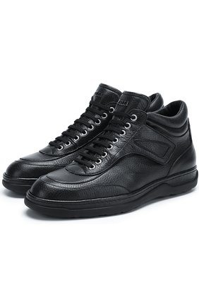 Мужские кожаные ботинки  ZILLI темно-синего цвета, арт. ZV 127/004 | Фото 1