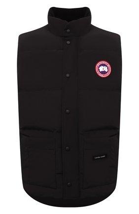 Мужской пуховый жилет freestyle crew CANADA GOOSE черного цвета, арт. 4154M | Фото 1 (Материал подклада: Синтетический материал; Длина (верхняя одежда): Короткие; Статус проверки: Проверена категория, Проверено; Материал утеплителя: Пух и перо; Материал внешний: Синтетический материал, Полиэстер; Мужское Кросс-КТ: Верхняя одежда; Кросс-КТ: Пуховик, Куртка; Стили: Спорт-шик)