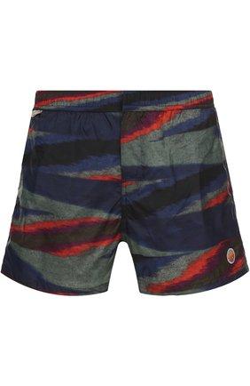 Плавки-шорты с принтом Missoni голубые   Фото №1