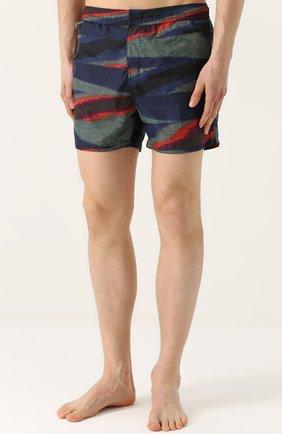 Плавки-шорты с принтом Missoni голубые   Фото №3