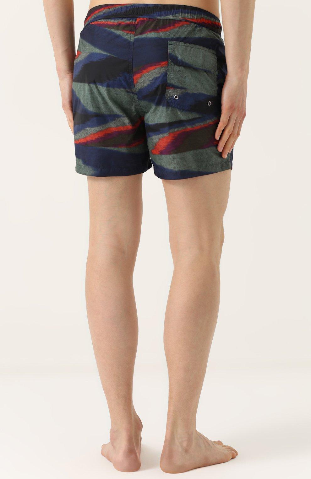 Плавки-шорты с принтом Missoni голубые   Фото №4