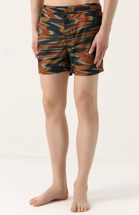 Плавки-шорты с принтом Missoni зеленые | Фото №3