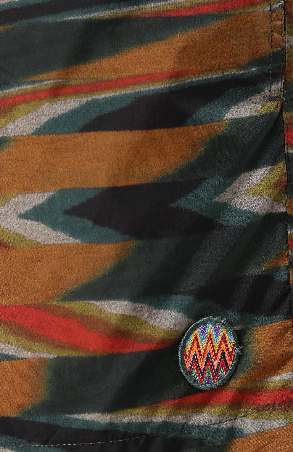 Плавки-шорты с принтом Missoni зеленые | Фото №5
