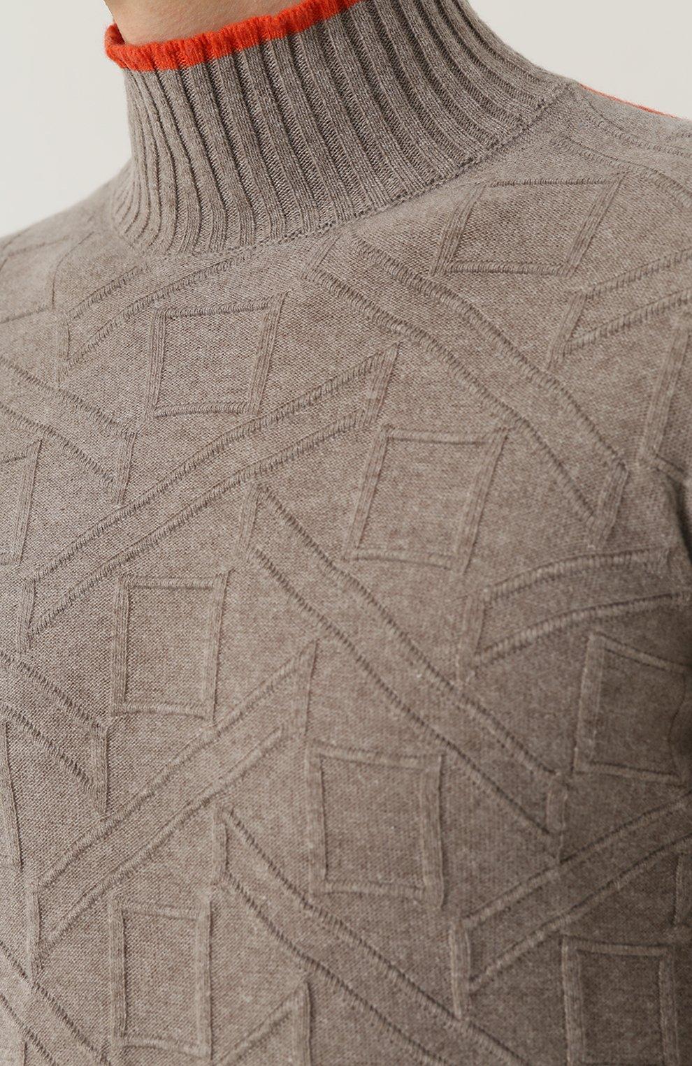 Водолазка фактурной вязки из смеси шерсти и кашемира | Фото №5