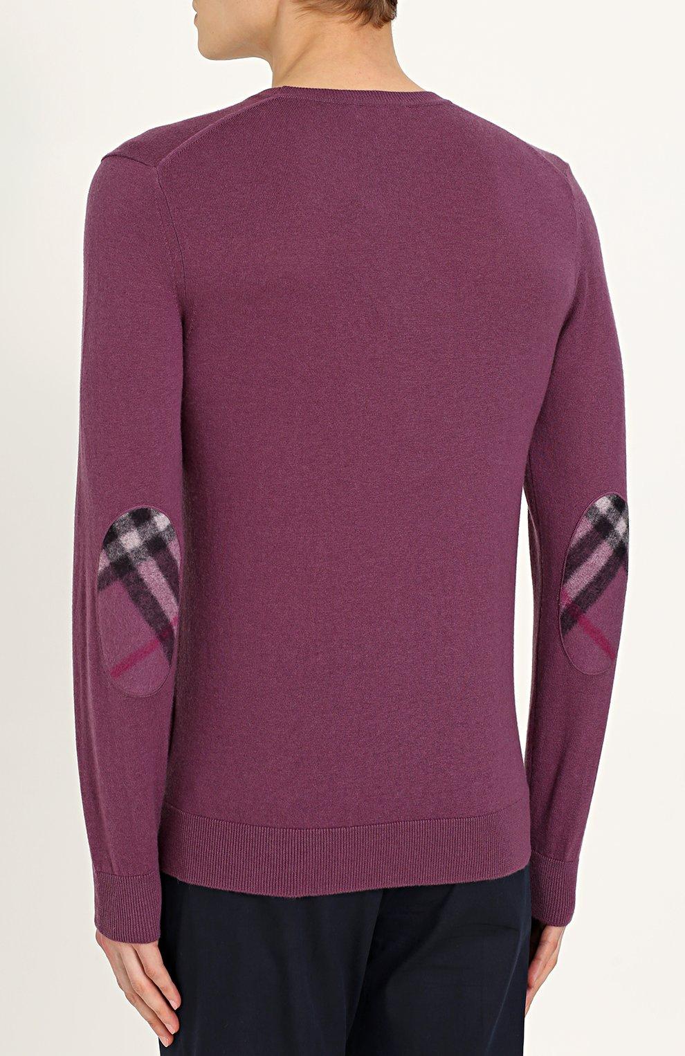 Пуловер из смеси хлопка и кашемира | Фото №4
