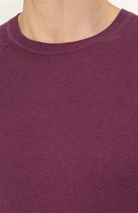 Пуловер из смеси хлопка и кашемира | Фото №5