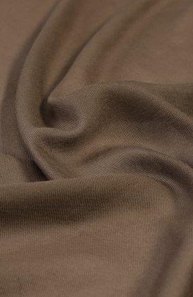 Мужской кашемировый шарф с необработанным краем RALPH LAUREN коричневого цвета, арт. 791654413 | Фото 2