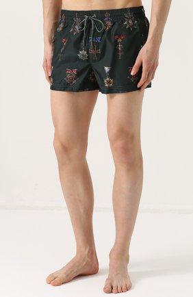 Плавки-шорты с принтом Dolce & Gabbana зеленые   Фото №3