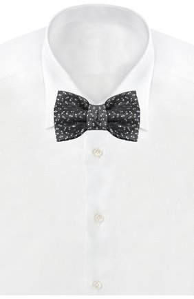 Шелковый галстук-бабочка с узором | Фото №2