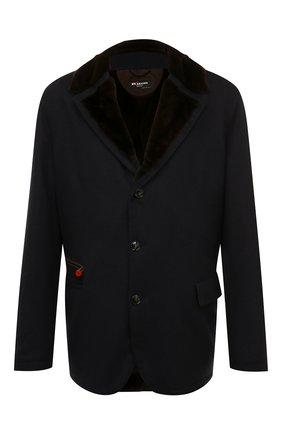 Мужская кашемировая куртка с меховой подкладкой KITON темно-синего цвета, арт. UW9991AK01140   Фото 1