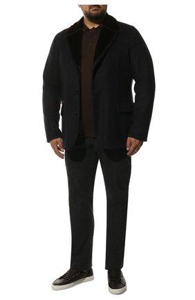 Мужская кашемировая куртка с меховой подкладкой KITON темно-синего цвета, арт. UW9991AK01140   Фото 2