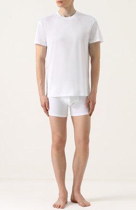 Хлопковая футболка с круглым вырезом   Фото №2