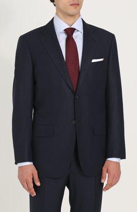 Мужской шерстяной костюм  KITON темно-синего цвета, арт. UA81K01X14   Фото 2
