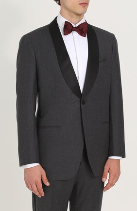 Мужской шерстяной смокинг с шалевыми лацканами KITON темно-серого цвета, арт. UASM96K02N30 | Фото 2