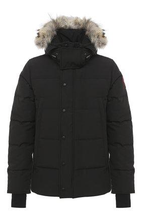 Мужская пуховая куртка wyndham CANADA GOOSE черного цвета, арт. 3808M | Фото 1 (Материал подклада: Синтетический материал; Статус проверки: Проверена категория; Рукава: Длинные; Длина (верхняя одежда): Короткие; Мужское Кросс-КТ: Пуховик-верхняя одежда, Верхняя одежда, пуховик-короткий; Материал утеплителя: Пух и перо; Материал внешний: Синтетический материал; Кросс-КТ: Пуховик, Куртка)