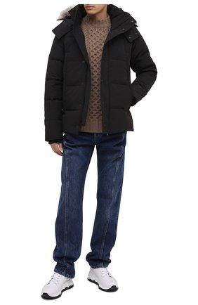 Мужская пуховая куртка wyndham CANADA GOOSE черного цвета, арт. 3808M | Фото 2 (Материал подклада: Синтетический материал; Статус проверки: Проверена категория; Рукава: Длинные; Длина (верхняя одежда): Короткие; Мужское Кросс-КТ: Пуховик-верхняя одежда, Верхняя одежда, пуховик-короткий; Материал утеплителя: Пух и перо; Материал внешний: Синтетический материал; Кросс-КТ: Пуховик, Куртка)