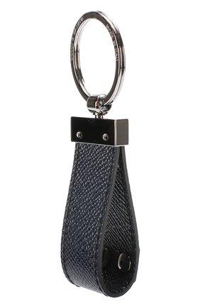 Кожаный брелок для ключей Dolce & Gabbana темно-синий | Фото №2