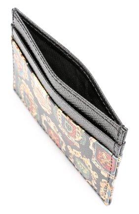 Кожаный футляр для кредитных карт с принтом Dolce & Gabbana черного цвета | Фото №3