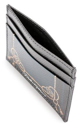 Кожаный футляр для кредитных карт с принтом Dolce & Gabbana черного цвета   Фото №3