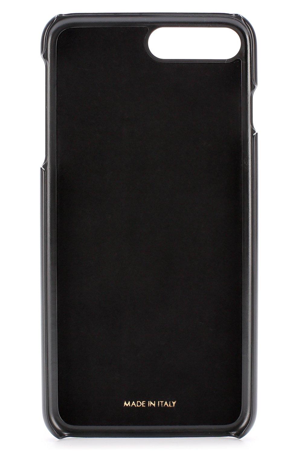 Кожаный чехол для iPhone 7 Plus с принтом Dolce & Gabbana    Фото №2