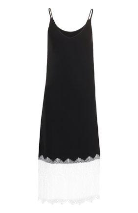 Приталенное платье с кружевной отделкой Walk of Shame черное   Фото №1