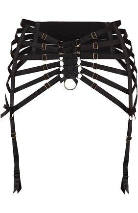 Женский пояс для чулок BORDELLE черного цвета, арт. SIGS01B | Фото 1
