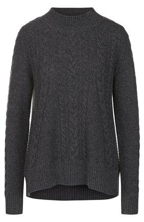 Кашемировый пуловер фактурной вязки   Фото №1
