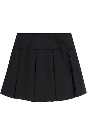 Детская шерстяная юбка со складками DAL LAGO темно-синего цвета, арт. R339/1011/XS-L | Фото 1