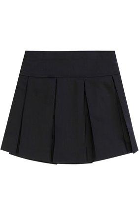 Детская шерстяная юбка со складками DAL LAGO темно-синего цвета, арт. R339/1011/XS-L | Фото 2