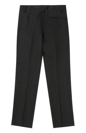 Детские шерстяные брюки прямого кроя DAL LAGO черного цвета, арт. N202/1011/4-6 | Фото 2